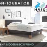 Konfigurator: Modern Boxspringbett