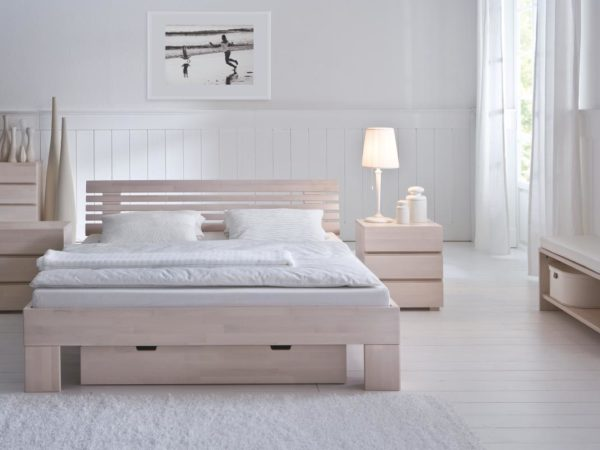 Massa Litto Bett – Wood-Line Classic 16 white