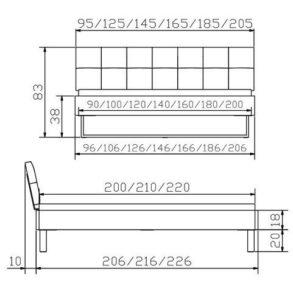 Indus Ronna Bett - Factory Line Loft 18 - Konstruktion