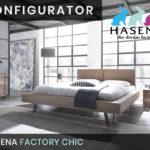 Konfigurator: Factory Chic Massivholzbett