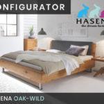 Konfigurator: Oak-Wild Massivholzbett