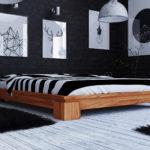 Vila Low Massivholzbett – ohne Kopfteil