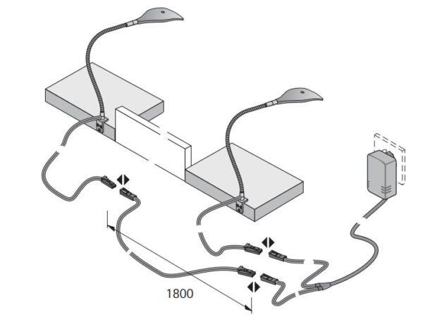 Spot LED-Leselampe