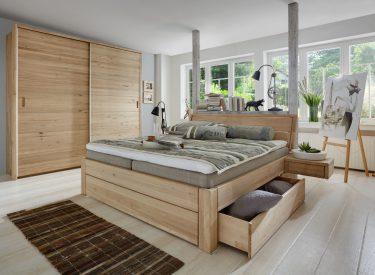 Easy Sleep II_Massivholzbett mit Schubladen